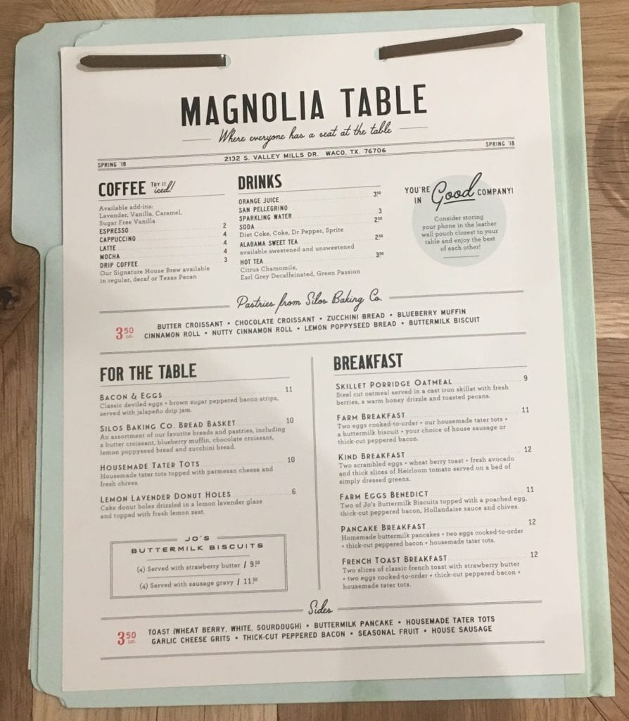 Magnolia Market- Menu ! Recap of Magnolia Table and the Silos, Fixer Upper | Mealswithmaggie.com