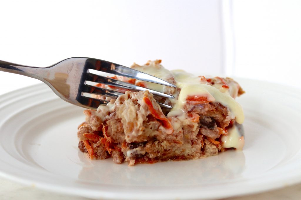 Healthy Carrot Cake bread pudding- High protein- Meals with Maggie