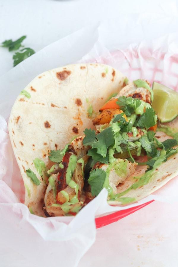 One Sheet Pan Chicken Fajitas with Avocado Sauce | Meals ... - photo#35