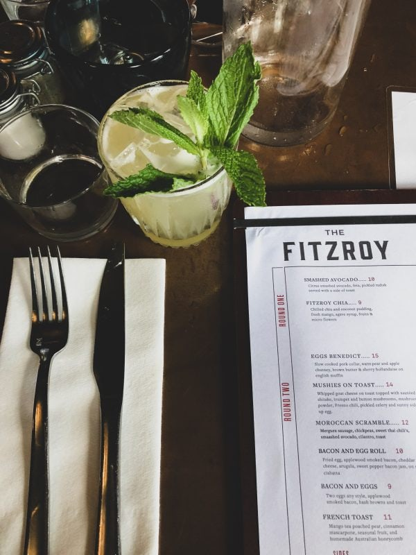 the Fitzroy menu.